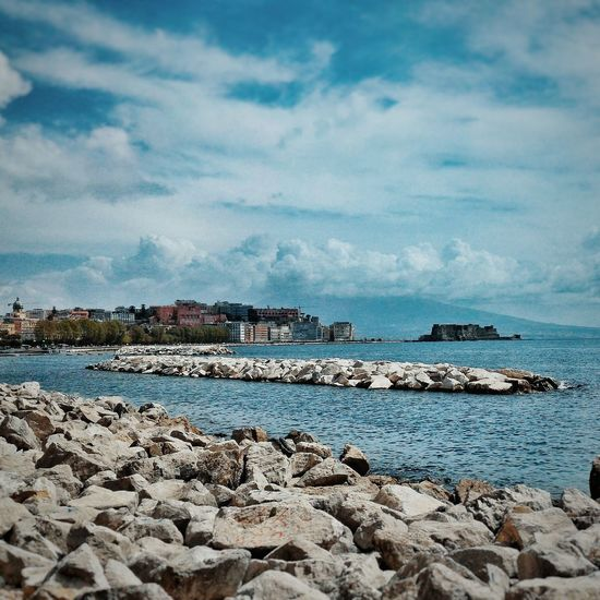 Scenic view of naples coastline