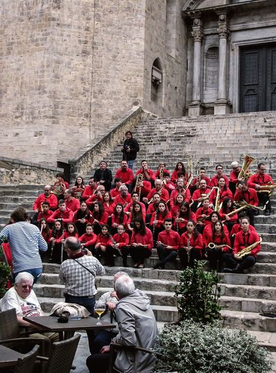 Chorus. Red Real People Day Outdoors Large Group Of People Musical Instrument People Architecture Spaın Chorus Chorus Rehearsal First Eyeem Photo
