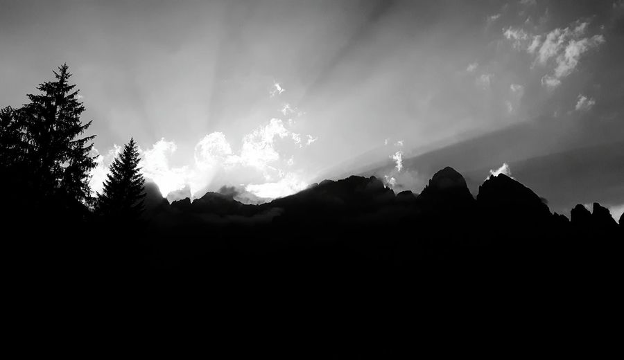Mountain Silhouette Sky Travel Destinations Cloud - Sky Nature Scenics Dolomiti Mountain Sunset Beauty In Nature Black Color EyeEmNewHere Your Ticket To Europe