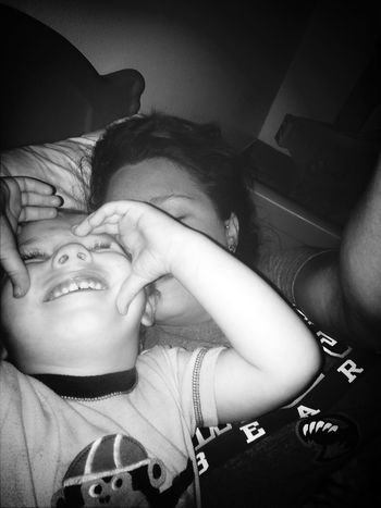 Laying in bed 2am Pictures.  This kid never Sleeps Ilovehim<3 My World ♥ my