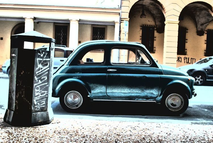 Italian vintage - Fiat500 in Bologna 500 Amarcord Bologna Bologna, Italy Cars Fiat HDR Italia Car Cinquecento Fiat500 Italy Italy❤️ Land Vehicle Mode Of Transport Old-fashioned Retro Styled Transportation Vintage EyeEmNewHere