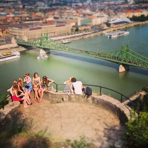 #budapest #citylife #cityscapes #danube #libertybridge #love #tourism #youth Day Friendship Fun Leisure Activity Men Outdoors People Relaxation River Togetherness Vacations Water Women