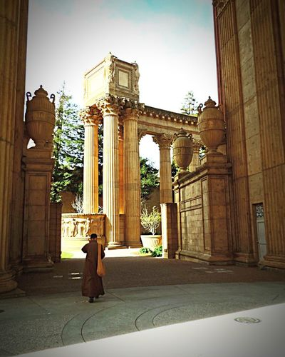 Monk  The Palace Of Fine Arts, SF