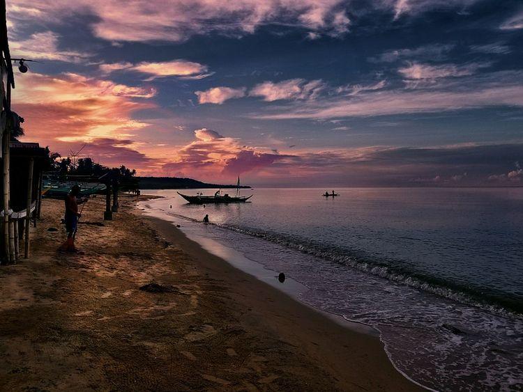 Laiya Beach Batangas Philippines Sunset Beach Sea Sky Sand Water Silhouette Tranquility Philippines Photos Travel Photography Travelphotography Tourism EyeEm Best Shots Beachphotography