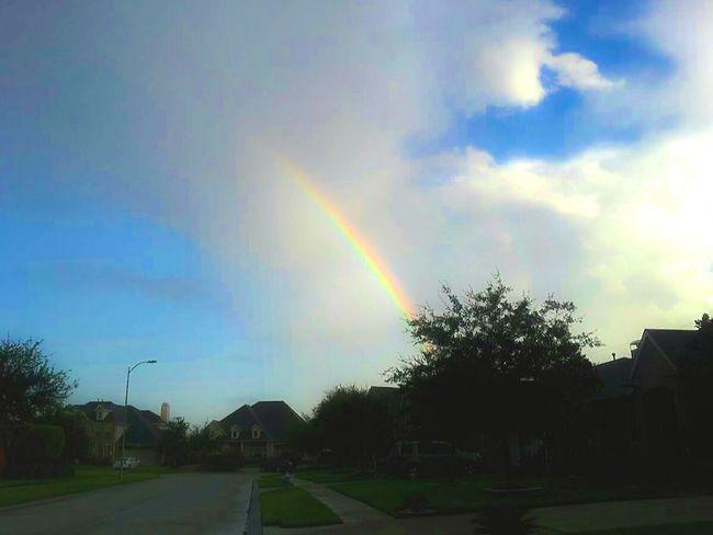 Morning Rainbow Sunshine Outdoor Photography My Neighborhood Good Morning Humble Texas