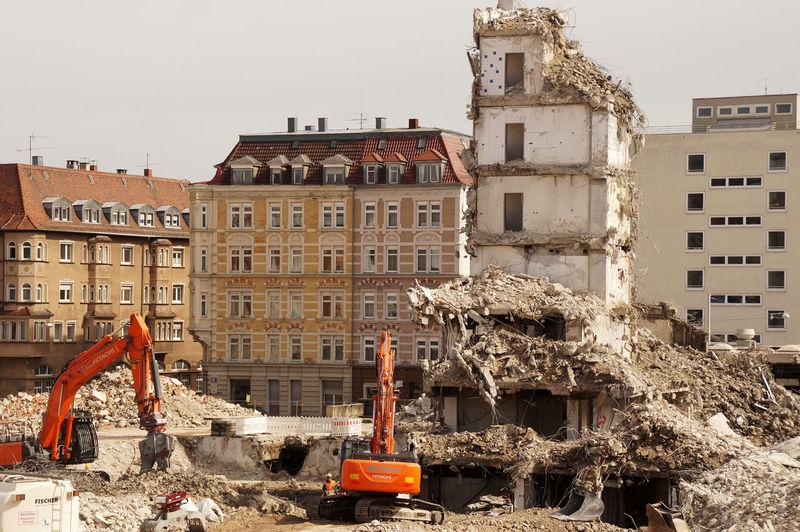 Demolition of a house Art Nouveau Art Nouveau Architecture Art Nouveau Style City Demolition Demolition Zone Excavator Ruin Ruined Ruined Building
