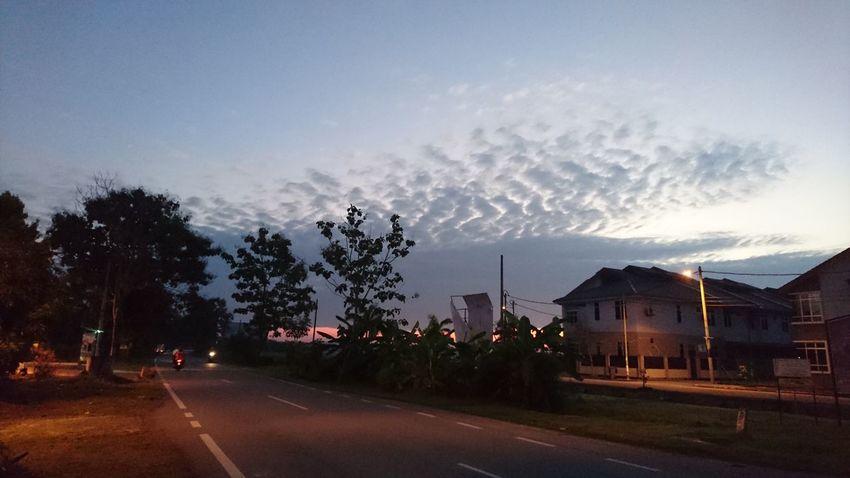Night Cloud - Sky Road Sony Xperia Z5 At Alor Setar Malaysia