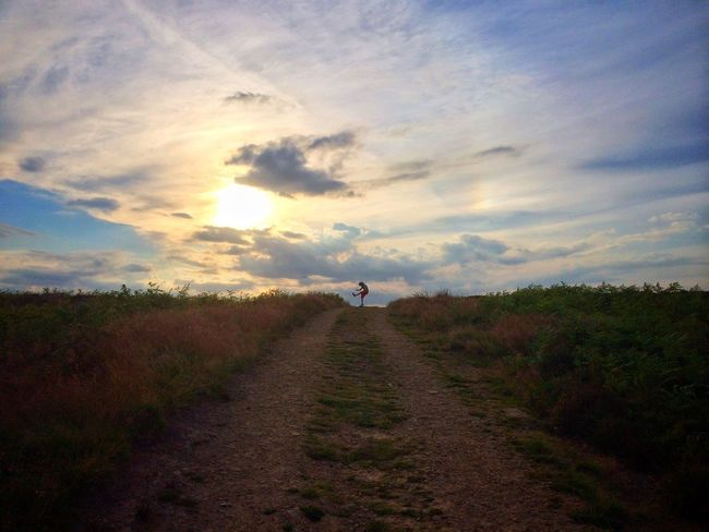 Charlie on Ilkley Moor, Yorkshire UK. My best photo according to What's On The Roll with 98%. Beauty In Nature The Way Forward Rural Diminishing Perspective IPhoneography Home Is Where The Art Is ShotOniPhone6 EyeEm Best Shots EyeEm EyeEm Best Shots - People + Portrait Mobilephotography Eye4photography  Enjoying Life