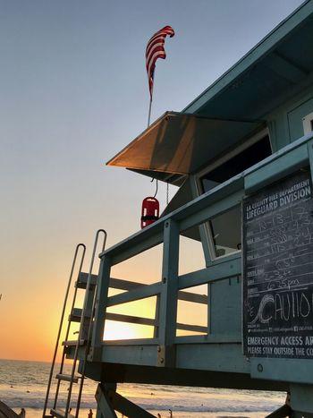 California MOVIE Malibu Rettungsschwimmer Santa Monica Ocean Sea Sunset
