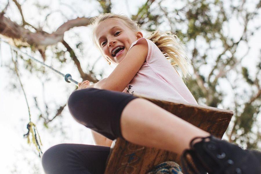 Be. Ready. Fun Childhood Happiness Lifestyle Swing Portrait