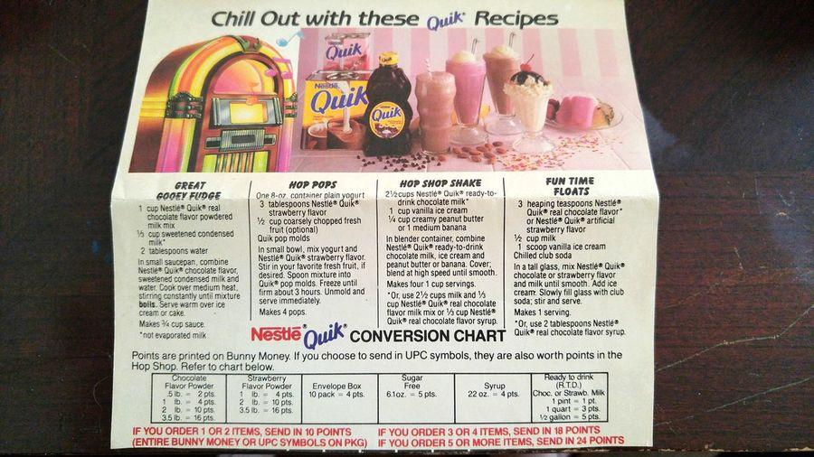 1940's Nestle Quick Chart