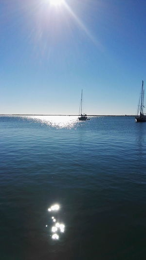 Hanging Out Taking Photos Relaxing Enjoying Life Olhao Blue Water Blue Sky Seashore Home Sweet Home Ria Formosa