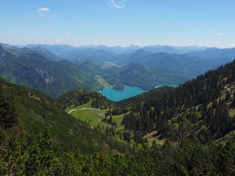 View from hte herzogstandbahn Bavarian Alps Bavarian Landscape Beauty In Nature Day Germany Hertzog Standbahn Landscape Mountain Mountain Range Nature No People Outdoors Scenics Sky Tranquil Scene Tranquility