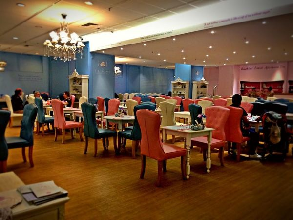 Asthetics Cafe Chair Contasting Colors Cute Indoors  Lifestyles Luxury Modern Architecture Pastle Colours Pink And Blue Vintage Well Lit