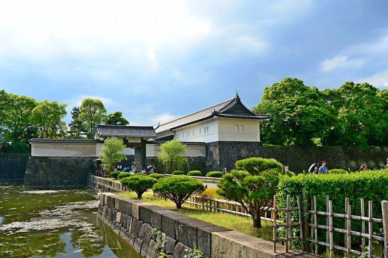 Imperial Palace Garden Tokyo,Japan Architecture Building Exterior Built Structure Cloud - Sky Day Outdoors Sky Tree Water