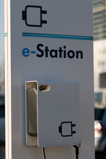 Volkswagen electric car charging station Electric Charge Green Energy Change Charging Electric Car Charging Point Charging Station Close-up Communication E-station Electric Charging Station Electric Station Environmental Conservation Information No People Sign Text Western Script
