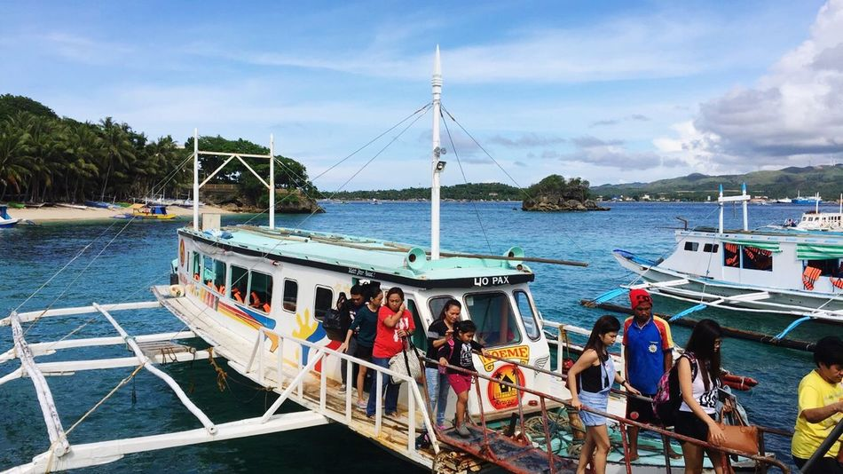 Beauty In Nature Boat Transportation Nautical Vessel Sky Sea Day Cloud - Sky Vacations Boracay Philippines