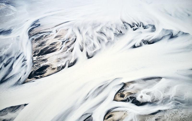 Full frame shot of snow covered land
