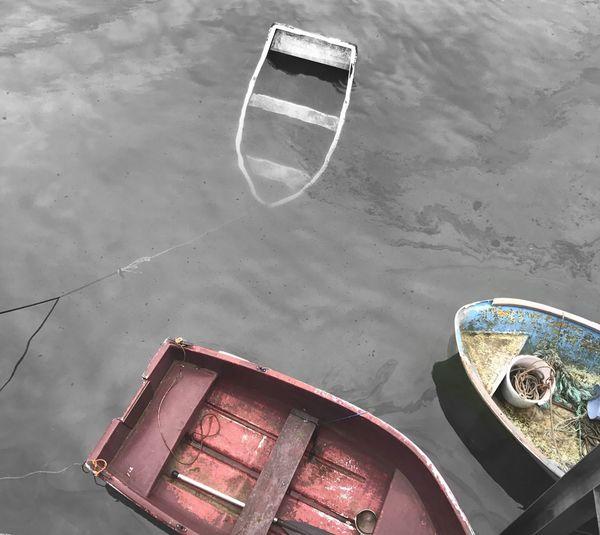 Boat Sinkingboat Harbour Water Abandoned Eyemphotography Weymouth Dorset