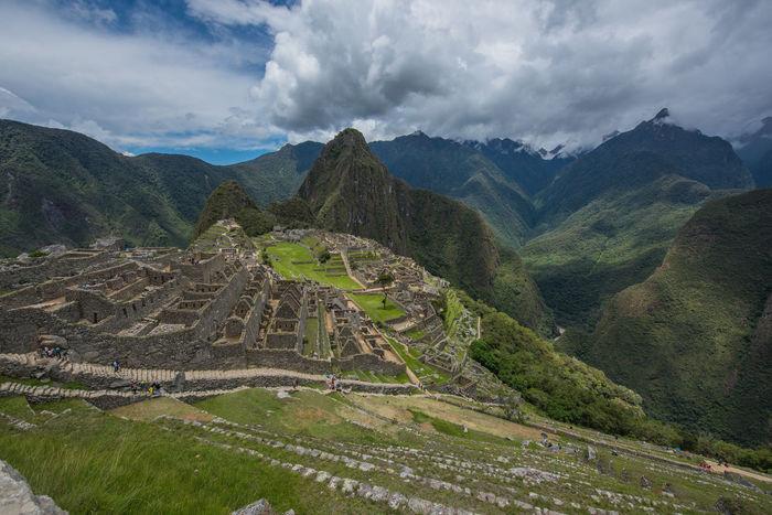 Inca City Inca Ruins Macchu Picchu Outdoors Peru Peru Traveling Sky And Clouds South America
