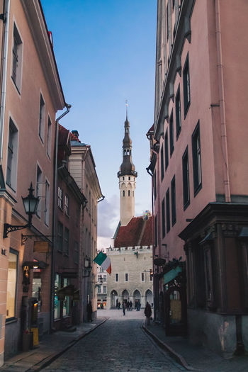 Old Town of Estonia Estonia Old Town Square Tallinn Architecture Blue Sky Building Exterior Built Structure Day No People Outdoors Sky Vintage Building