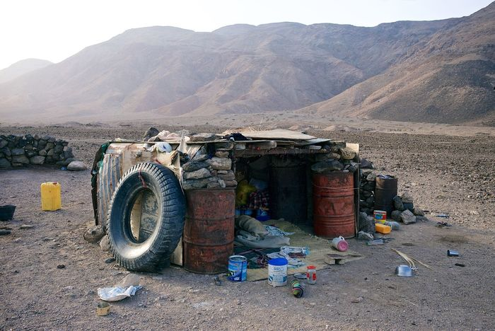 A house in the desert. Djibouti. Documentary