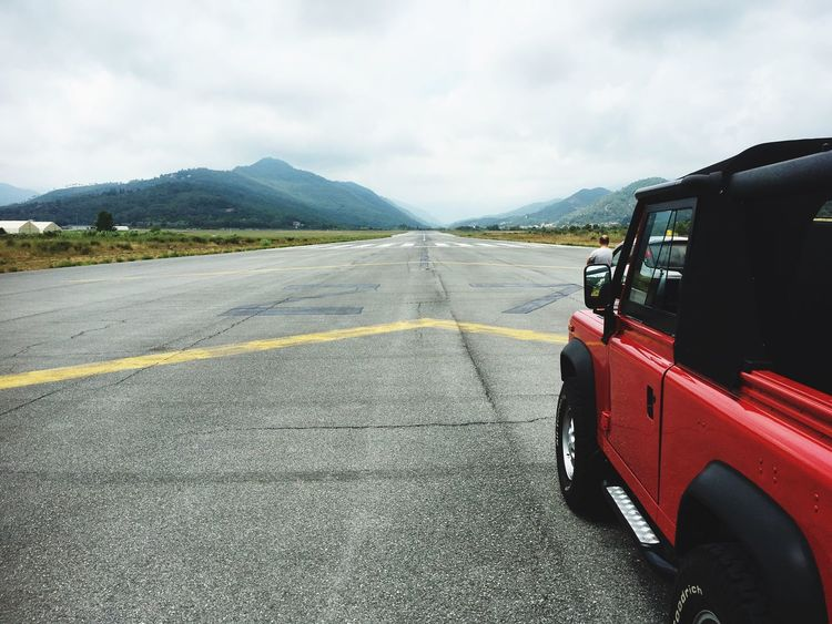 Mountain Sky Landscape Outdoors Land Vehicle Defender Runway Airport Italy Albenga First Eyeem Photo Perspectives On Nature EyeEmNewHere