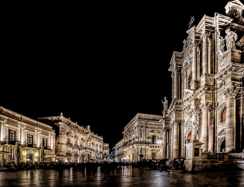 Architecture Nightphotography Sicily Siracusa Square Architecture Building Exterior Built Structure Duomo Di Siracusa Illuminated Night No People Ortigia Outdoors Piazza Duomo Siracusa Sky