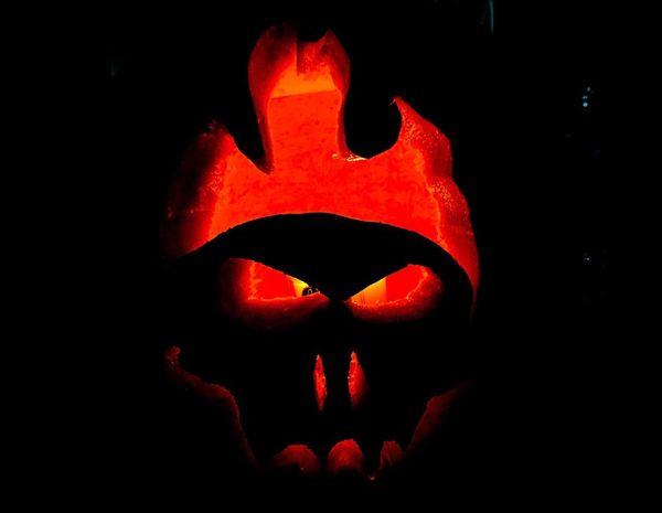 Halloween Pumpkin Orange Color Celebration Night Spooky Jack O' Lantern Anthropomorphic Face Illuminated Lantern No People Black Background Close-up Jack O Lantern Outdoors