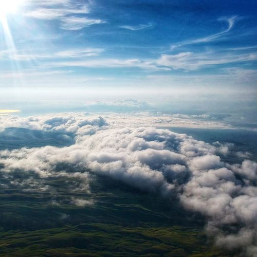 Cloud - Sky Sky Nature Cloudscape Beauty In Nature Aerial View Heaven Sky Only