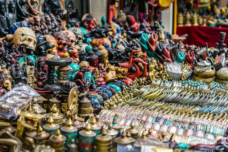 Various objects for sale in market