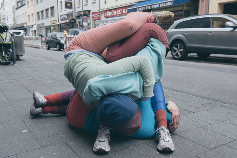 ArtWork Bodies Bodies In Urban Spaces Cologne Human Installation Sport In The City Twisted Urban Spaces Showcase: November #urbanana: The Urban Playground