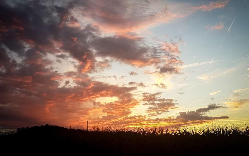 -sky Sunset Mood Sun Smallhairymonkey