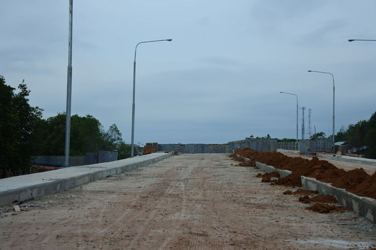 New road under