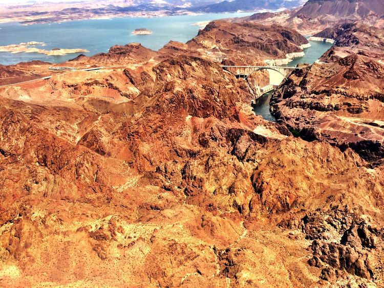 Lake Hoover Dam Helicopter View  Amazing View