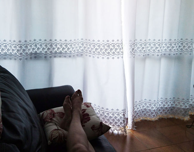 A Sunday Day Just For Me. Adult Adults Only Close-up Curtain Day Human Body Part Human Hand Indoors  Low Section One Person People Relaxing Moments Window Mobile Conversations Breathing Space