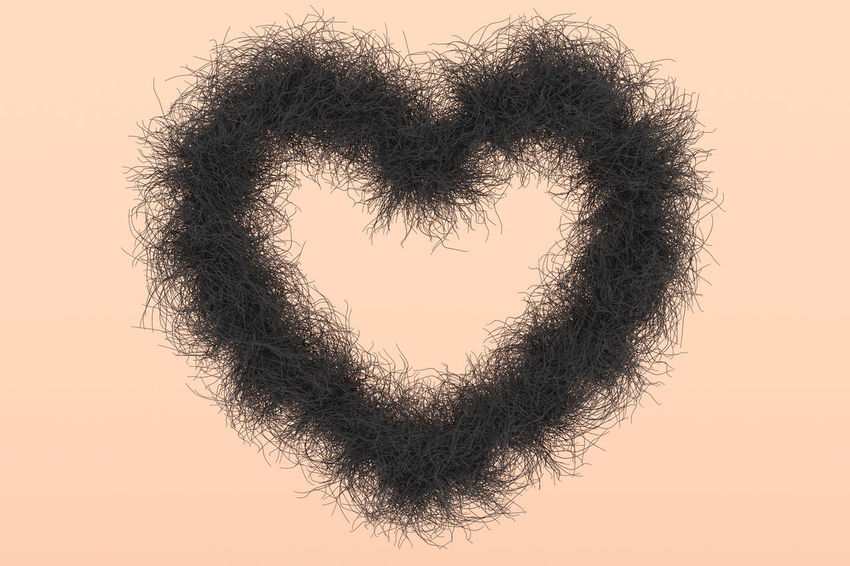 3D 3D Art Fur Hair Heart Heart Shape Love Love Render Rendering Shape Shave Skin Skin Tone