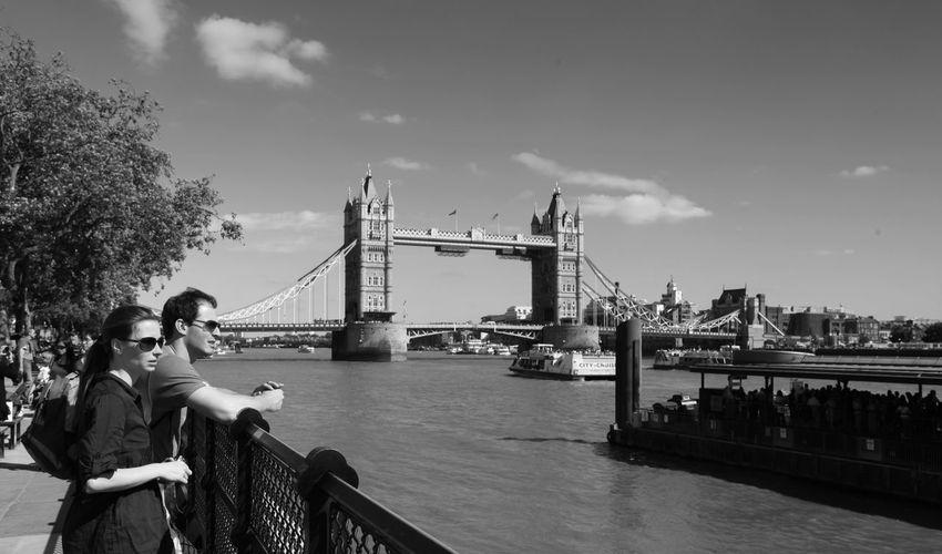 London Lifestyle City Two People Bridge - Man Made Structure River Travel Destinations The Thames London Bridge