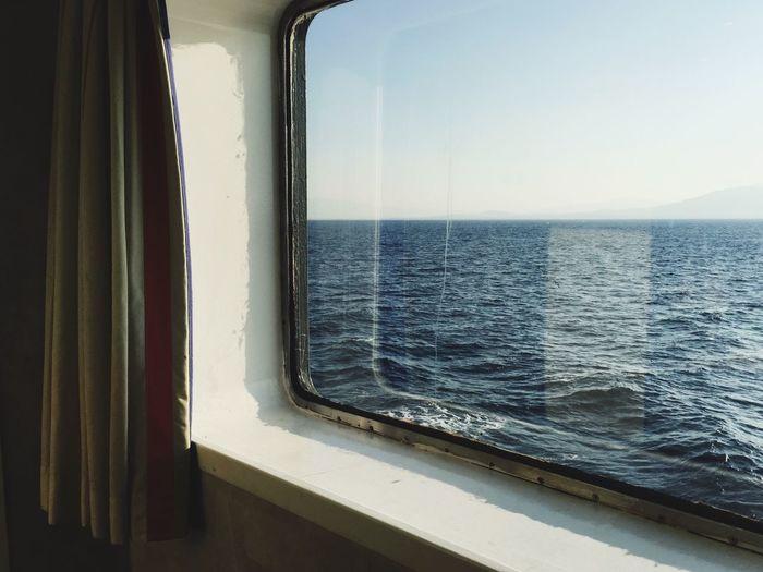 Sea Retro Greece Greek Islands Summer Waves Ship
