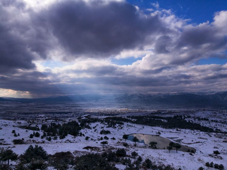 snow Leicacamera Cloud - Sky Landscape No People Outdoors Sea Sunset Horizon Over Water Scenics Sky Tranquility Water Nature Travel Destinations Beach Cold Temperature Beauty In Nature Day Snow Building Exterior Architecture Go Higher