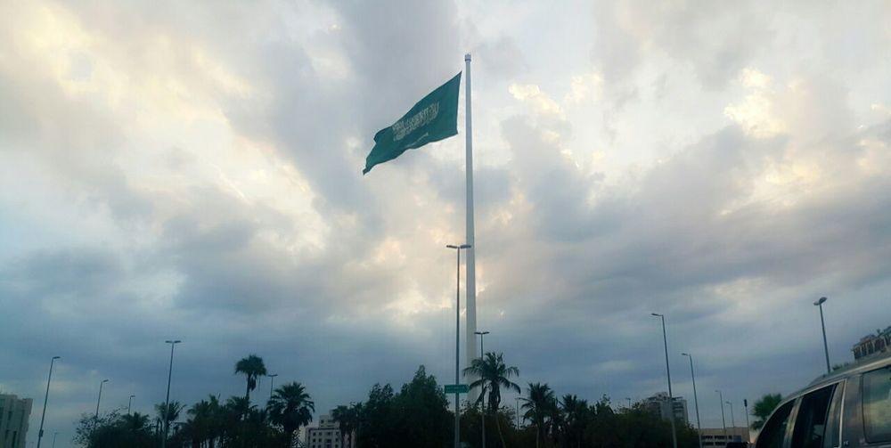 Flag Sky Saudi Arabia Jeddah City