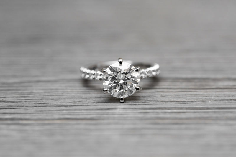 Close-up Day Diamond Ring Diamond Rings Engagement Engagement Ring Indoors  Luxury Macro No People Selective Focus Wood