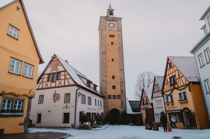 Germany Rothenburg Ob Der Tauber Christmas Market Germany Christmas Bavaria Architecture Travel Destinations Building Exterior Winter Cold Temperature Snow City