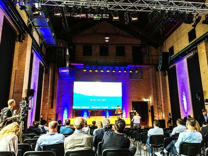 Good to see Michael on stage Umspannwerk Umspannwerk Kreuzberg Michaeljackson Blockchain Ses16 Fintech Bitcoin Startups Skype Nerds Conference Conference Room People Watching People Photography EventPhotography Event