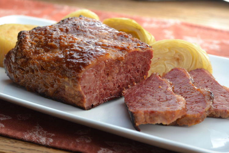 Close-up of meat in plate