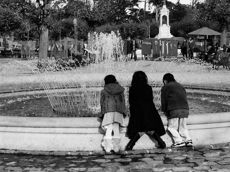 Sibling Love Watching Water Waterfountain Park Life Golden Gate Park San Francisco City By The Bay