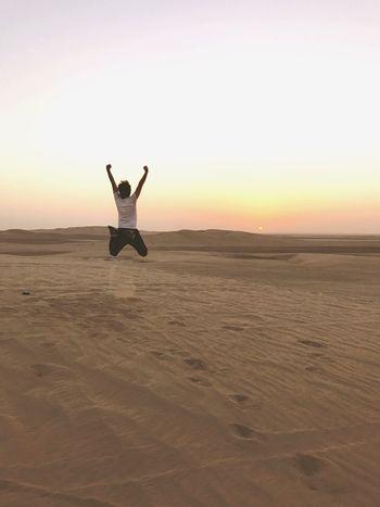 Desert Doha Doha,Qatar Sunset Beauty In Nature Men Healthy Lifestyle Sand Dubai Kuwait Sunlight desert makes your mind clean