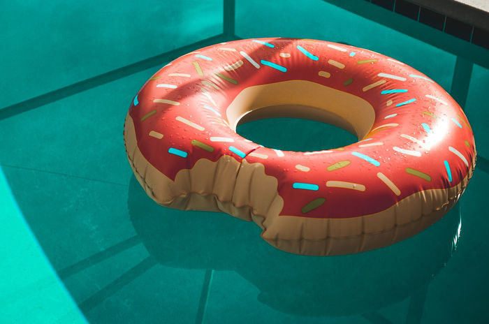 Pool Inflatables Day Donut Hot Day Inflatable  Inflatable Donut Inflatable Ring No People Outdoors Pool Pool Time Pool Toy Refreshment Relaxing Sommer Summer Summer Views Summertime Sunny Swim Swimming Swimming Pool Warm Water Water Reflections Weather