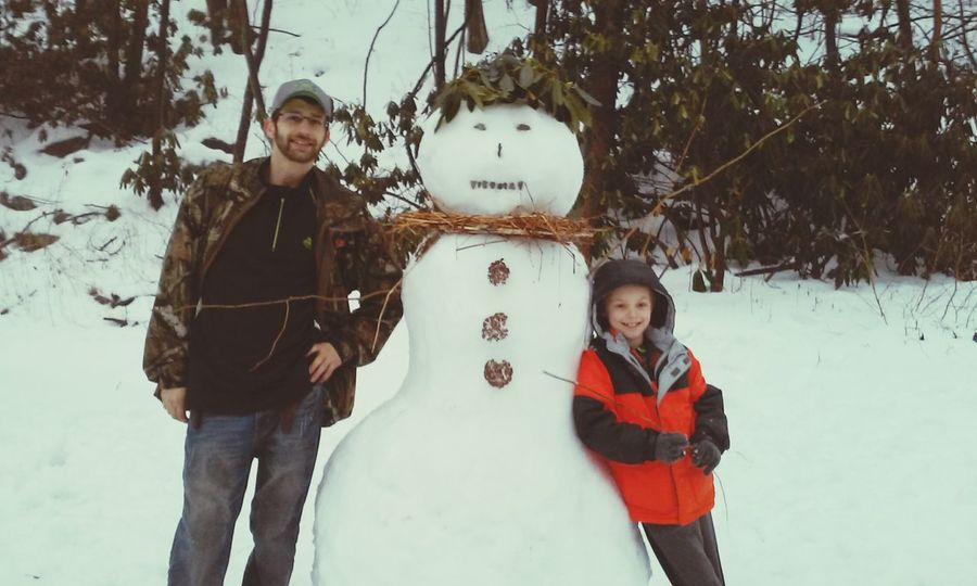 Snowman⛄ Family Time Fun In The Snow Love My Family ❤ Snow ❄ Nature_collection Nature Snowman Ohiopyle