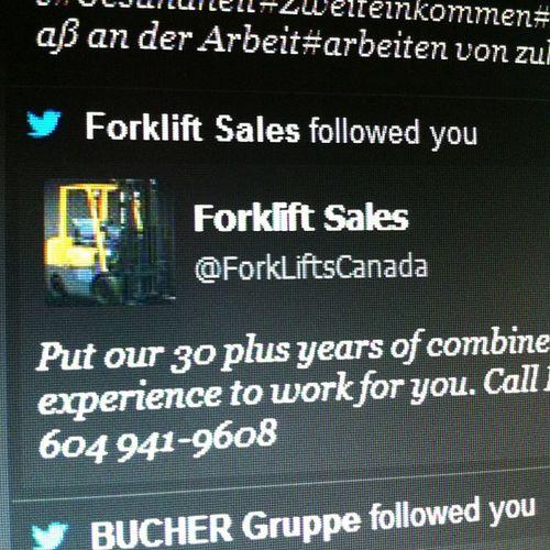 Es gibt Firmen, für die lohnt es sich auf Twitter zu sein. Und es gibt Gabelstaplerhändler.